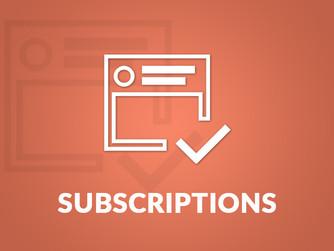 Membership Subs 2018 - now being taken