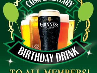 Birthday drink on us!