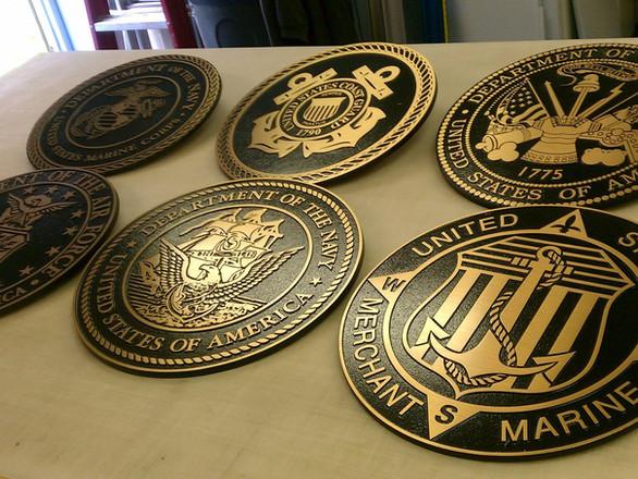 Custome Diecast Bronze Plaques