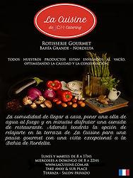 Flyer La Cuisine