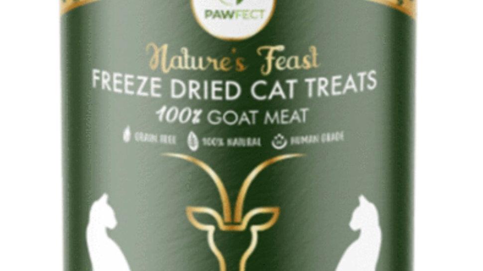 Freeze Dried 100% Goat Meat Cat Treats