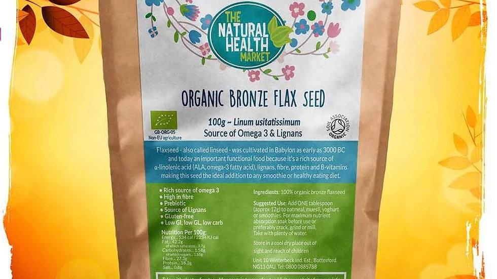 Organic Bronze Flax Seed - 100g