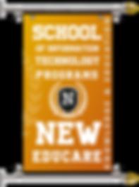 IT PROGRAMS OF NEW EDUCARE BANNER SCROLL