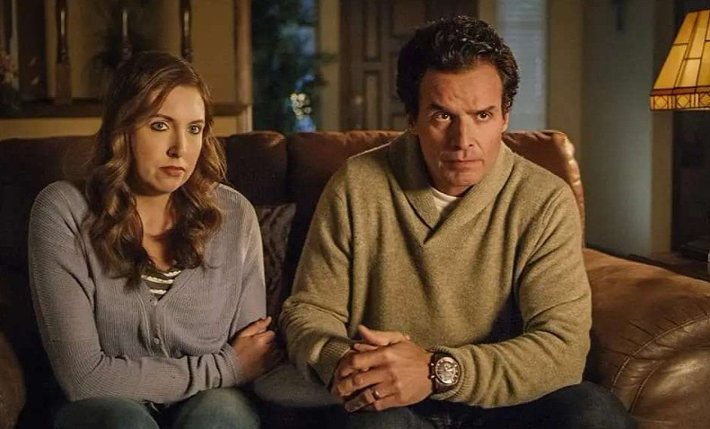 """Francesca Battistelli and Antonio Sabato Jr. in a scene from """"God's Not Dead:  We the People."""""""
