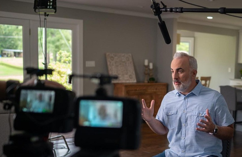 """Stephen Kendrick during filming of """"Show Me the Father"""" documentary."""