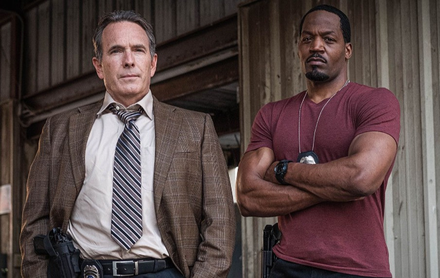 """Lead actor Todd Terry (left) and T.C. Stallings pose in a publicity shot for season 2 of """"Vindication."""""""