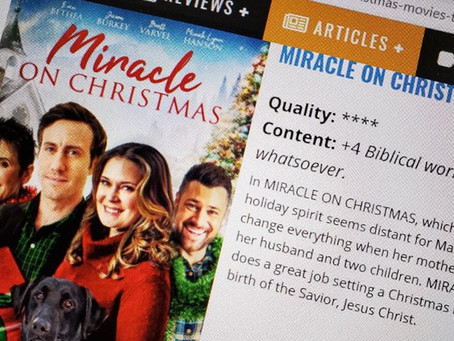 "An Honor of Sorts for ""Miracle on Christmas"""