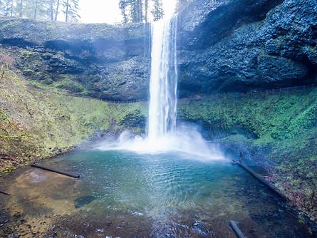 Silver Falls by Drone 1 - Oregon