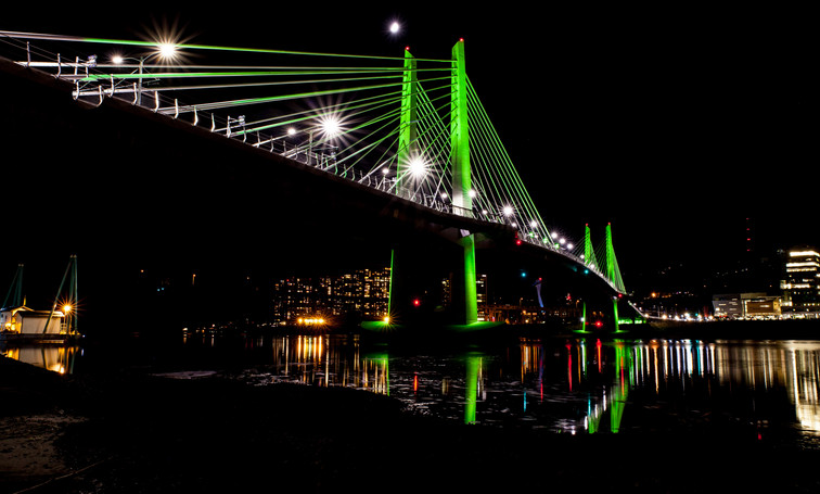 Tilikum Crossing Night East