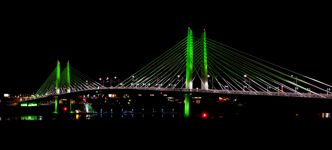 Tilikum Crossing Night West