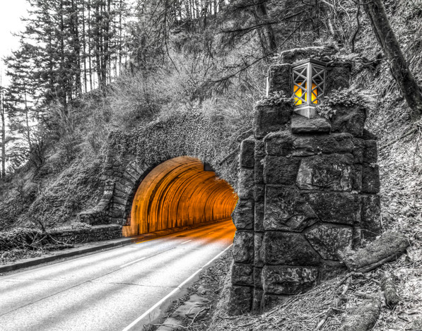 Columbia Gorge Tunnel and Light