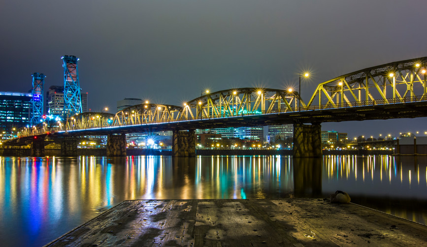 Hawthorne Bridge Night