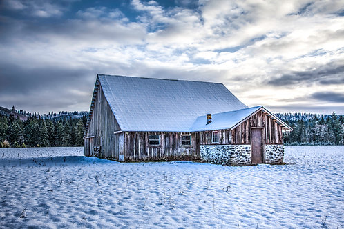 Fine Art - Snowy Barn - Cougar, Washington