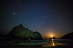 Waxing crescent moon - Big Sur, CA
