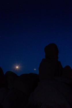 Waxing Crescent Moon in Joshua Tree.