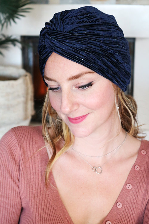 "Turban Bonnet ""Velvet"" (version croisé)"