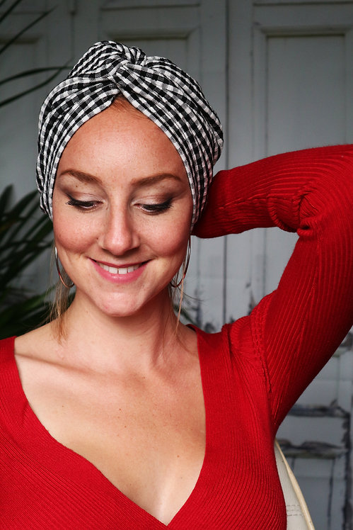 "Turban Bonnet ""Brigitte"" (Version croisée)"