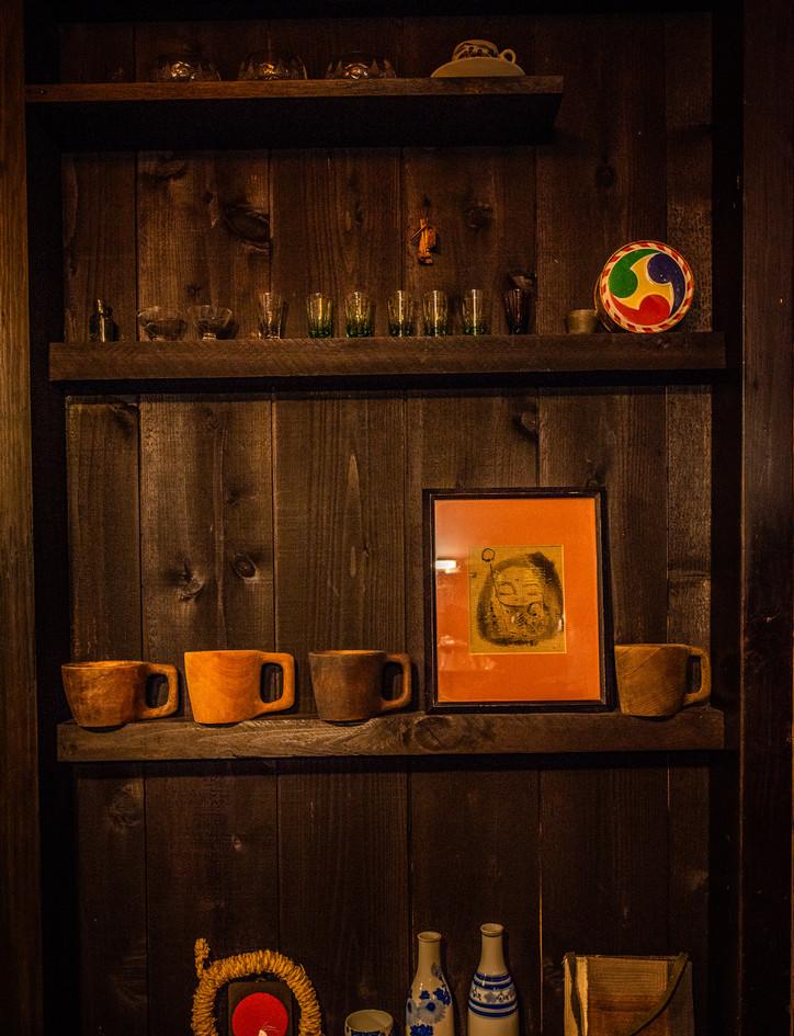 キッチンに飾られた古いものたち