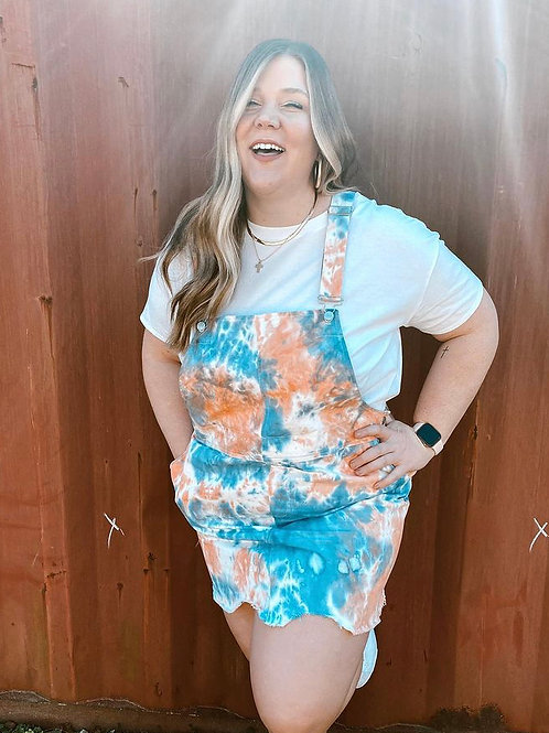 Tie Dye Overall Dress