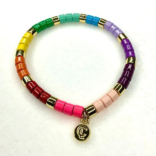 Rainbow Round Bead Bracelet