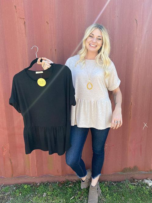 Babydoll Short Sleeve Shirt