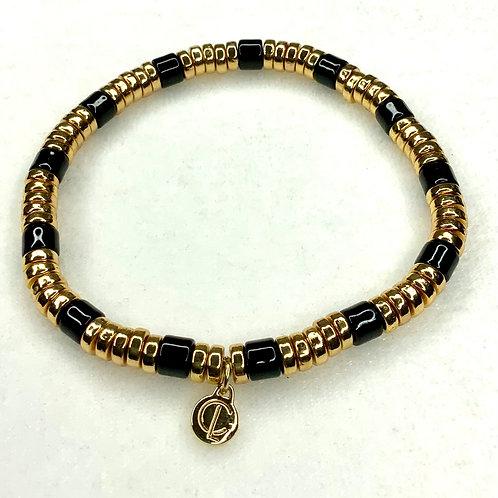 Black and Gold Laguna Bracelet