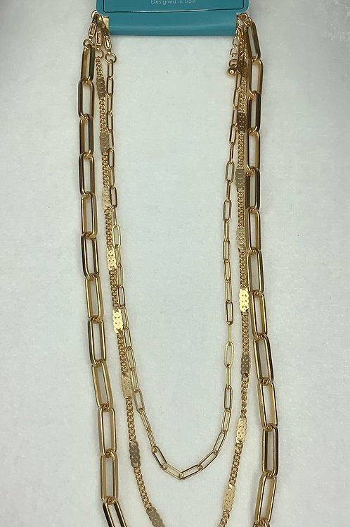 Matte Gold Layered Necklace
