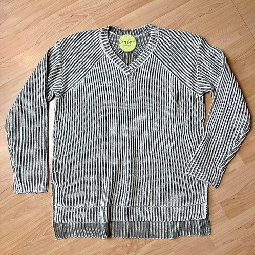 Stone V-Neck Soft Knit Sweater