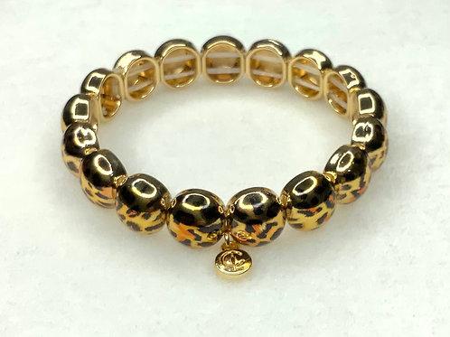 Gold Leopard Bubble Bracelet