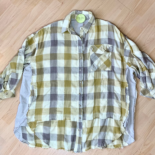 Plaid Oversized Button Down Long Sleeve
