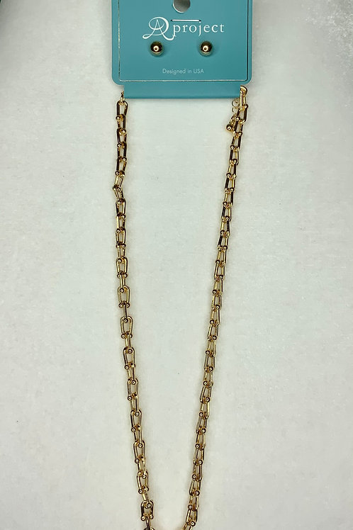 Matte Gold Chain Necklace
