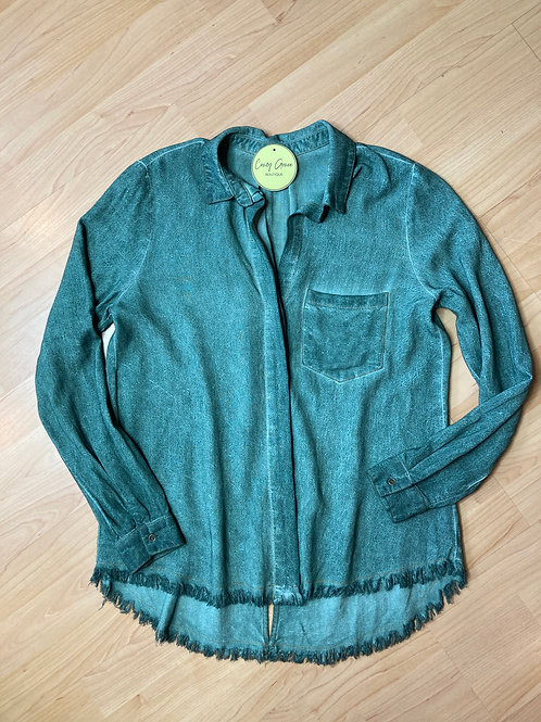 Mineral Wash Button Down Shirt