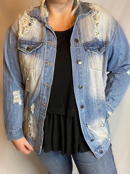Denim Jacket - Distressed