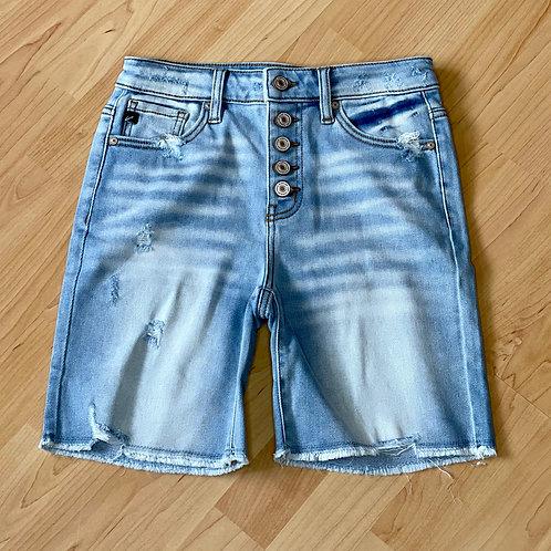 Light Wash Long Shorts