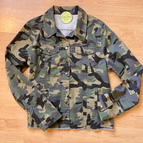 Semi Crop Camo Jacket