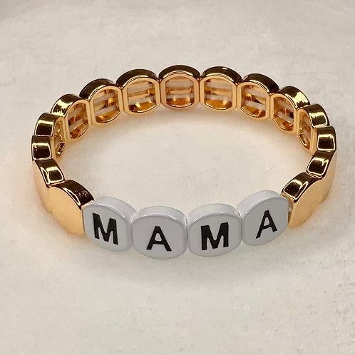 Mama Gold Tile Bracelet