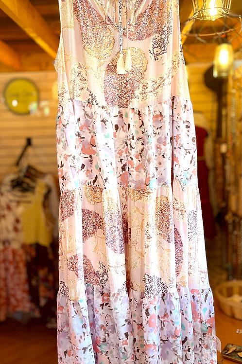 Blush Multi Print Summer Dress