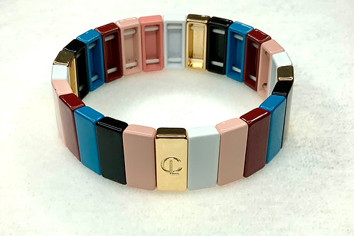 Multi Color Large Tile Bracelet