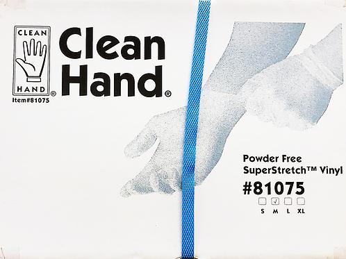 81075-CLEAN HAND Powder Free Vinyl Gloves