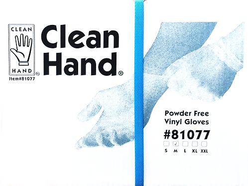 81077-CLEAN HAND Powder Free Vinyl Gloves