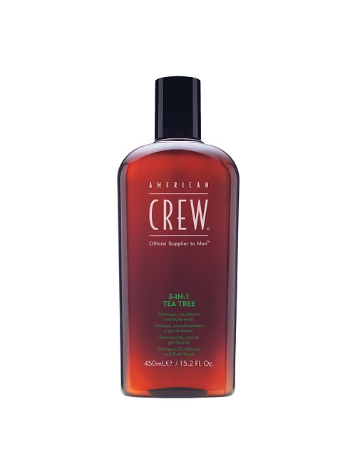 American Crew - 3-IN-1 Tea Tree Shampoo/Conditioner/Bodywash