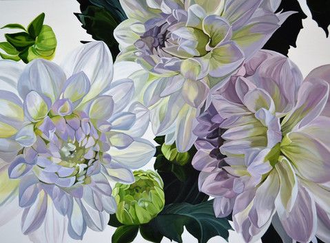 Sunlit Dahlias - SOLD