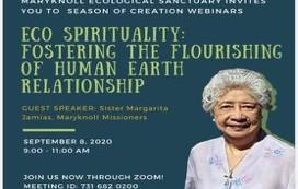 Season of Creation 2020 - Eco Spirituality : Fostering the Flourishing of Human Earth Relationship