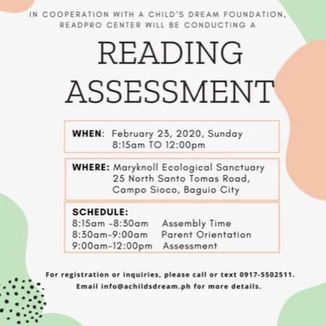 Reading Assessment Program 2020