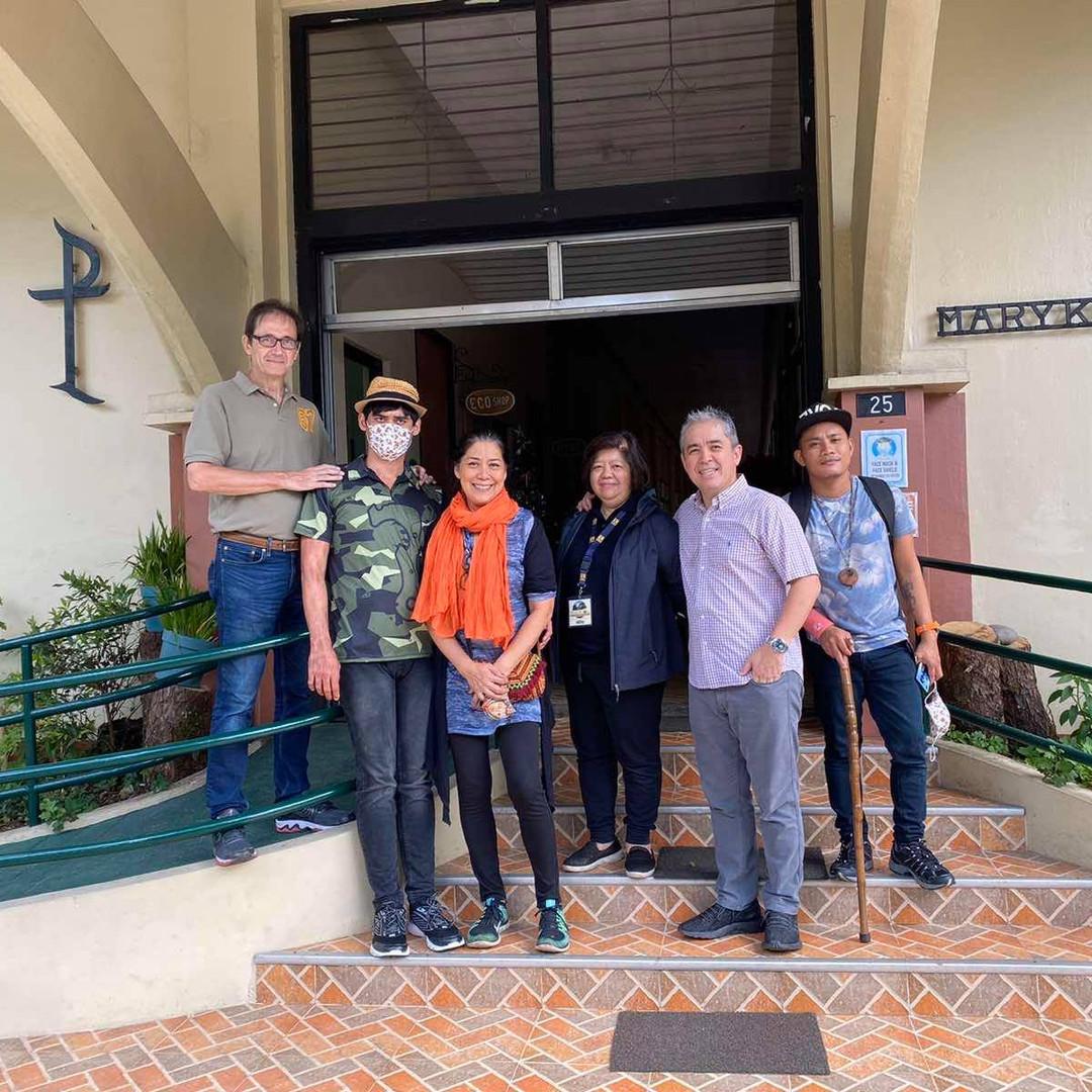 Keith, Rachel, Julyan Harrison Visit Maryknoll Ecological Sanctuary 2020