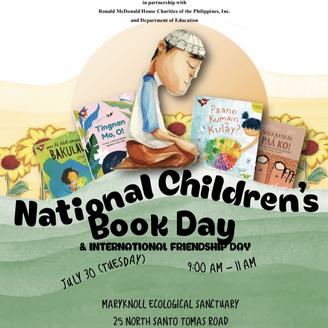 National Children's Book Day & International Friendship Day 2019