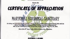 Maryknoll Ecological Sanctuary Receives DENR Award 2016