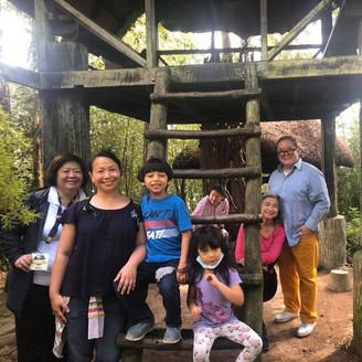 Marisa Romero, Lissa Romero de Guia & Gabe Mercado Visit Maryknoll Ecological Sanctuary 2020