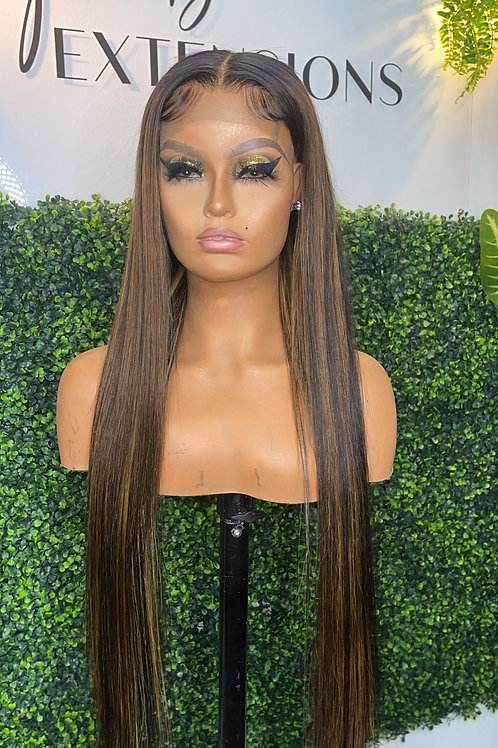 "30"" Custom made lace closure wig"