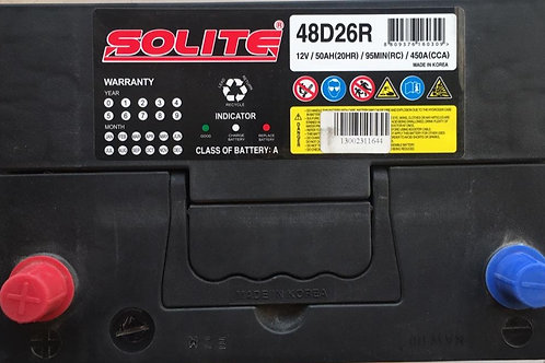 BATTERY 12V/50AH / 48D26R / MF